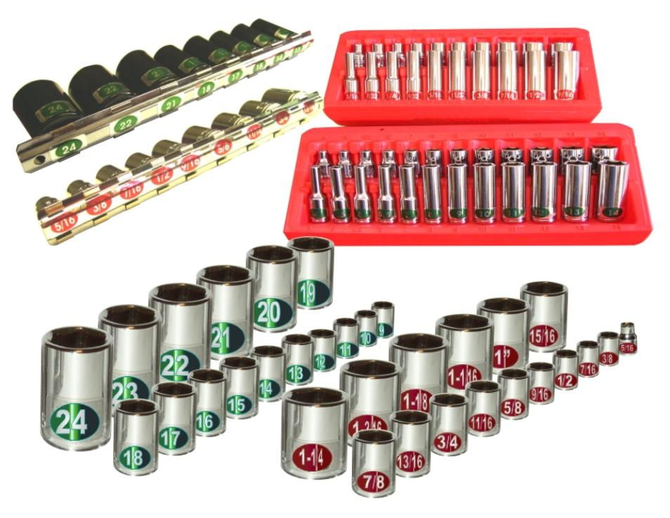 Socket Sets, Socket Rails, 1/4 Drive Set